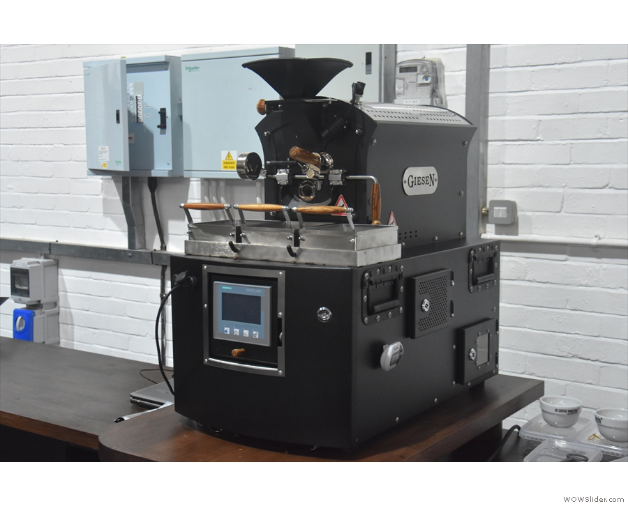 As well as the new 30 kg Giesen, there's also a new baby Giesen, aka a sample roaster.