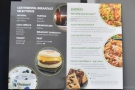 There's a choice of just four meals for both lunch and dinner. Compare this to the menu...