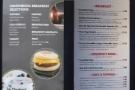 We returned for breakfast. The new menu (left) compares badly to the old one (right)...