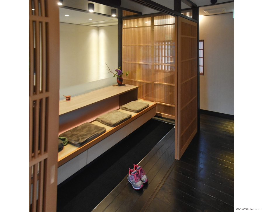 ... on the other side is this traditional Japanese seating area (no shoes) which overlooks...