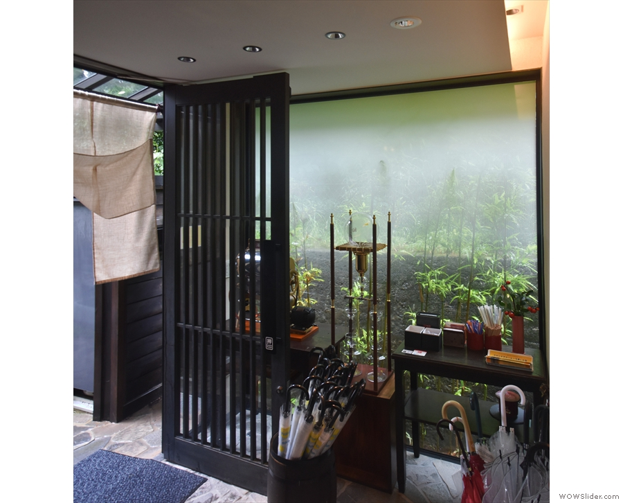 ... which leads into this enclosed porch. In typical Japanese fashion, there are lots of...