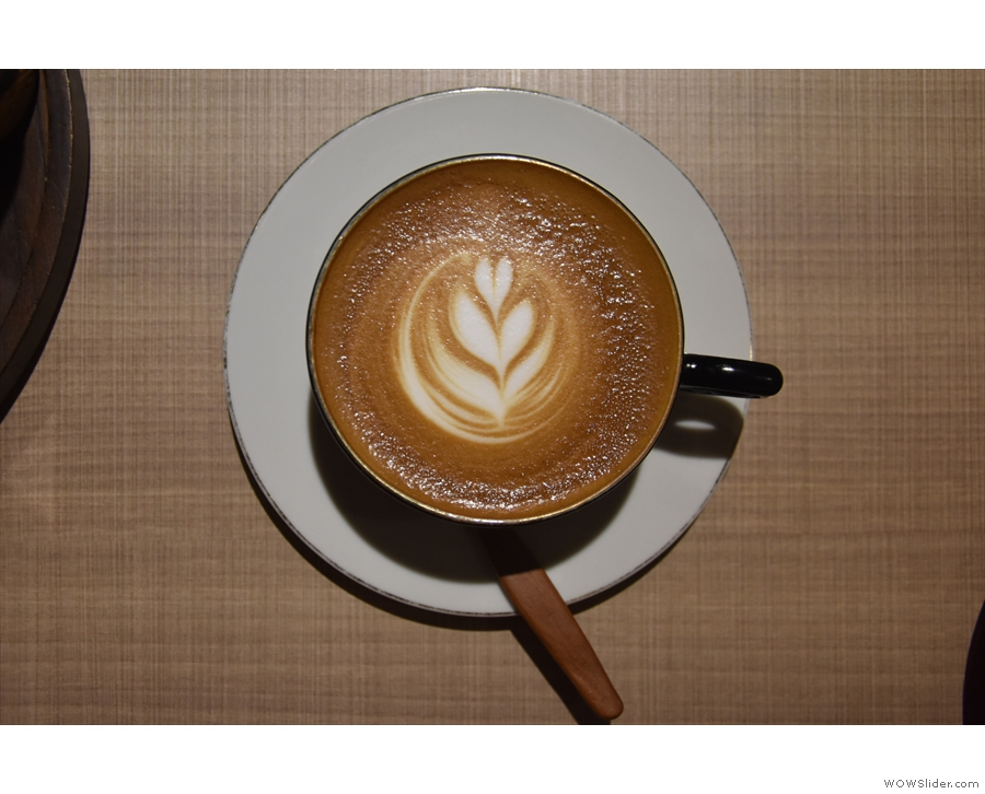 ... with some lovely latte art which lasted...