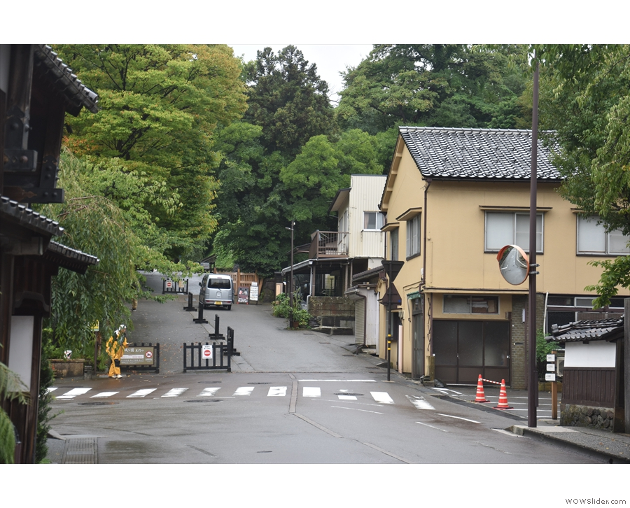 Heading towards the northern entrance of Kanazawa Castle, you'll find a sloping road.