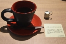 ... in the cup, tasting notes (in Japanese) to one side, which is where I'll leave you.