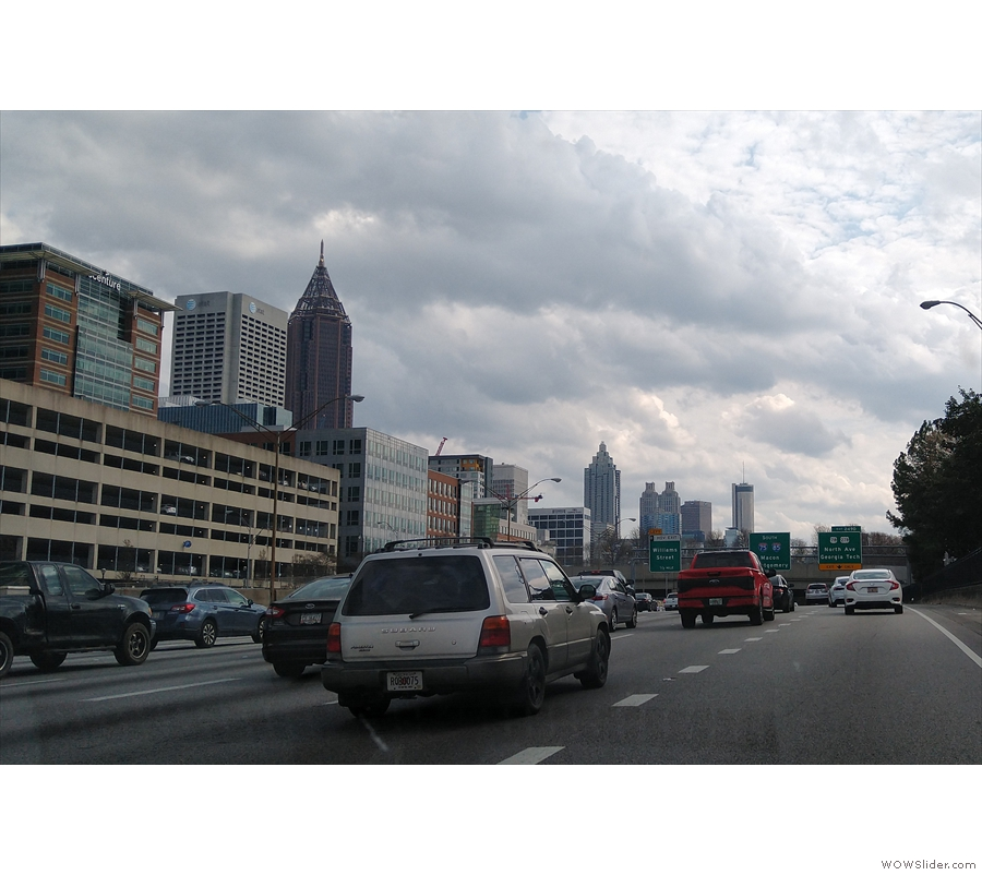 From there, it was the joys on Saturday afternoon traffic on I-85 as we headed south...
