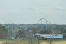 We passed the Six Flags fairground on the way.