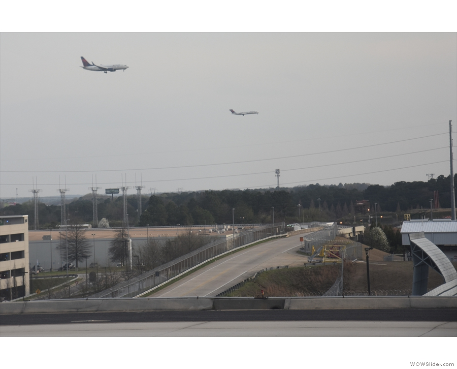All the while, planes are landing on the southern runways (there are three of them!).