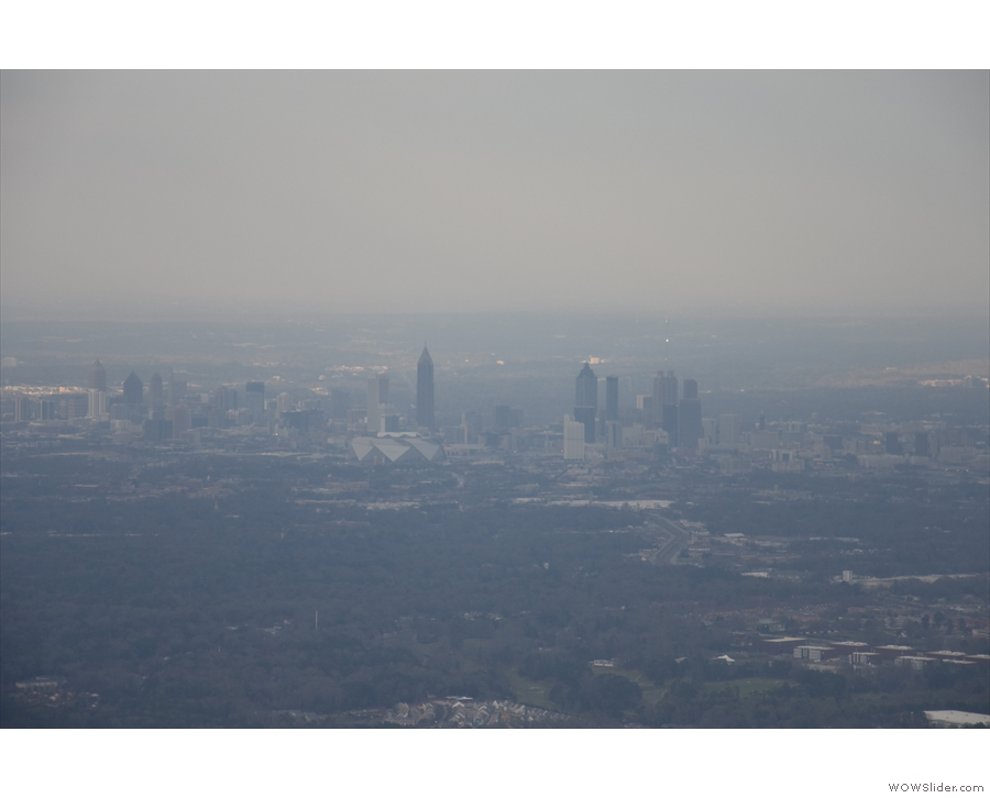 I think those are the highrises of Downtown and Midtown Atlanta...