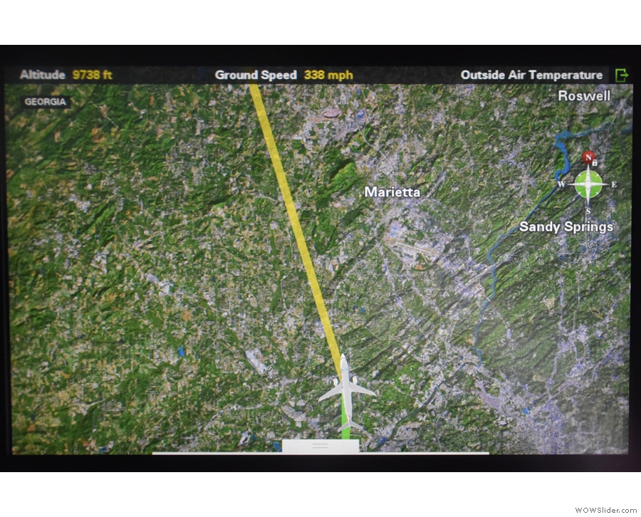 ... and we seem to have settled on a northerly route, heading for Marietta.