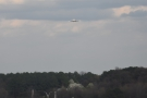 ... as, in the distance, another plane comes in to land on the parallel runway.