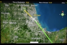 We pass right over the centre of Chicago...