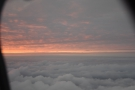 ... we were treated (on my side of the plane at least) to a magical sunset...