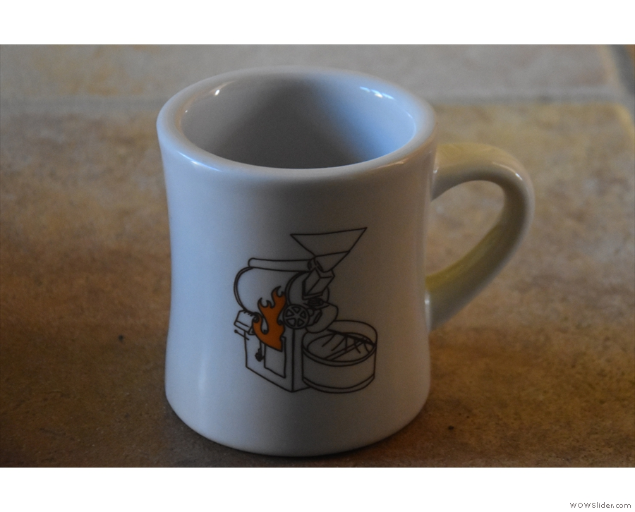 The other essential item is a mug. A standard UK mug, or a US diner mug like this will do.