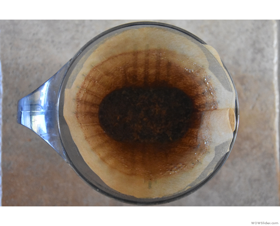 If you've got it right, you should have a nice, flat bed of coffee at the bottom of the filter!