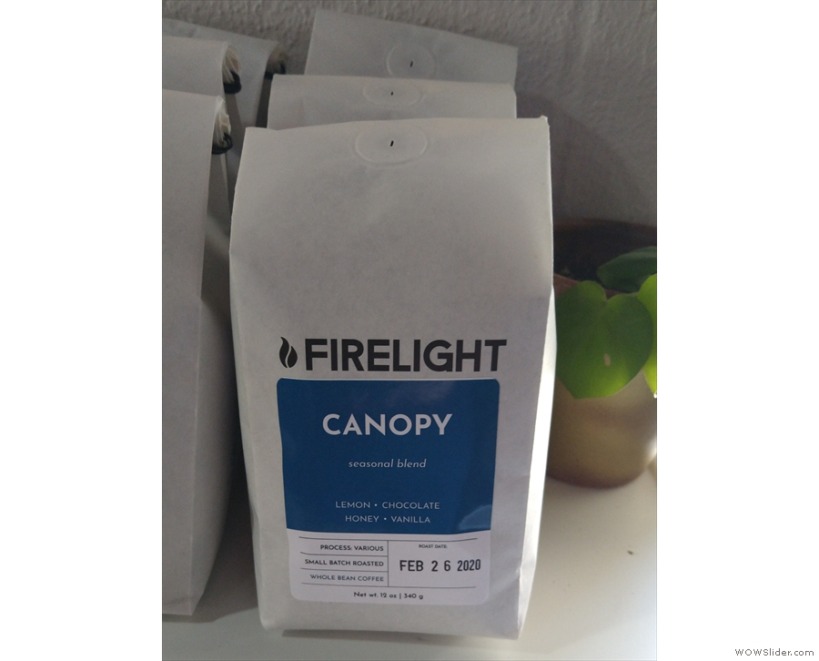The Canopy seasonal blend is on espresso, while there's...