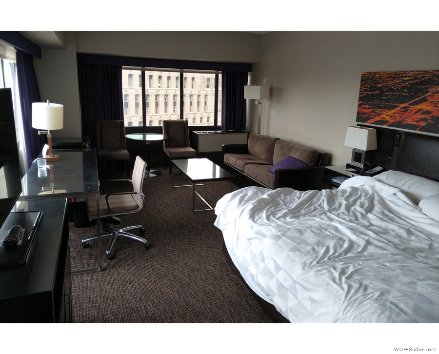 I arrived in Chicago on Saturday and settled into my (ridiculously big) hotel room.