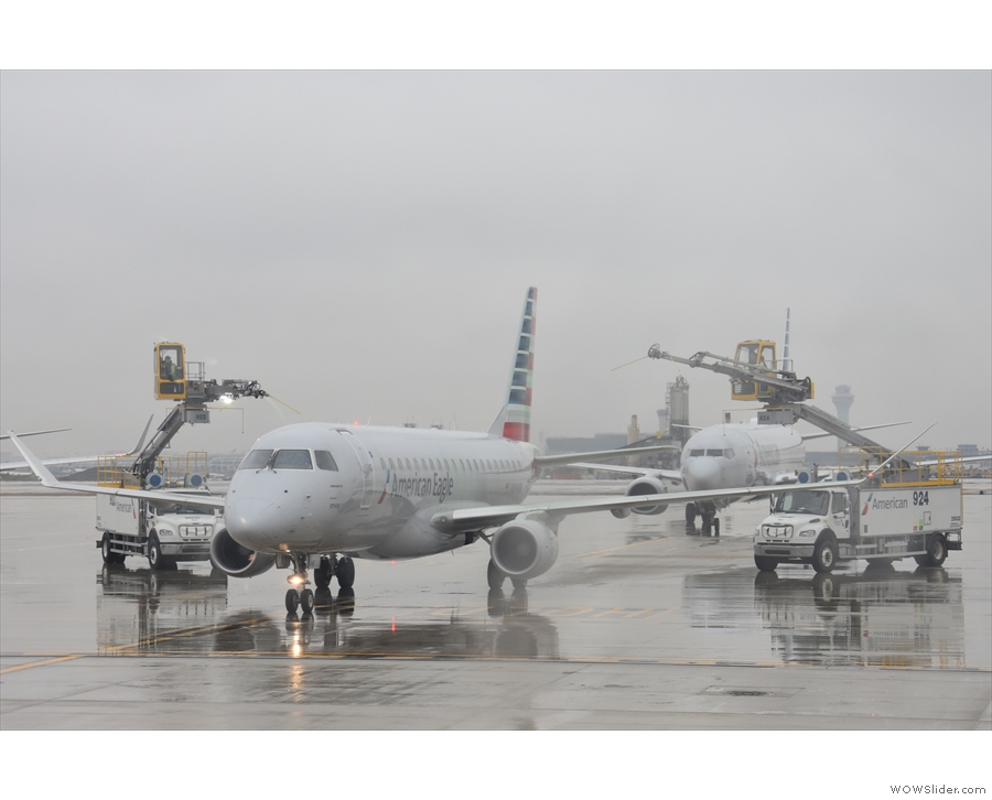 ... regional jet as it gets de-iced.