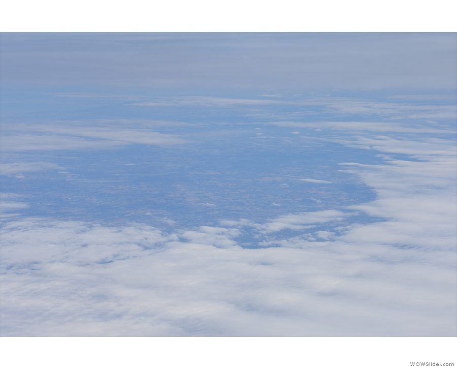 Initially, there weren't many views, just glimpses of the land through gaps in the clouds...