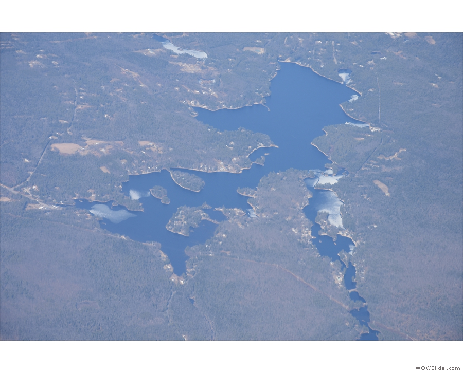 This is Lake Monomonac, which straddles the Massachusetts/New Hampsire border.