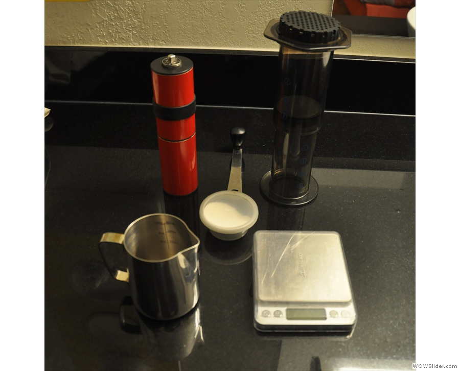 It's not all making coffee on the go. Here's my AeroPress in my hotel in Phoenix in 2017.