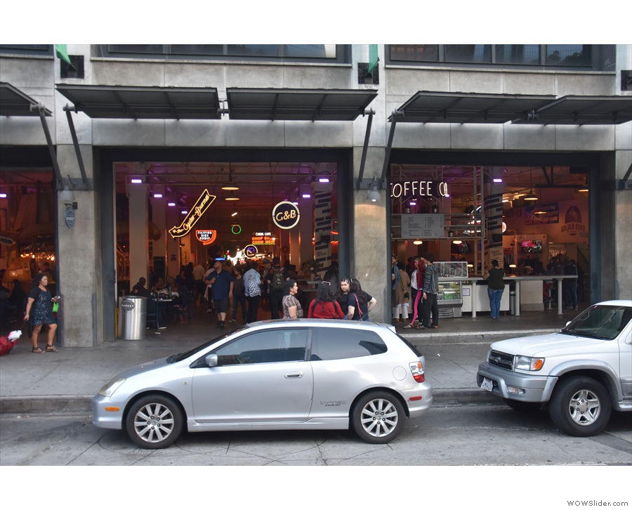 From there, I walked to downtown LA and visited G & B Coffee in Grand Central Market.