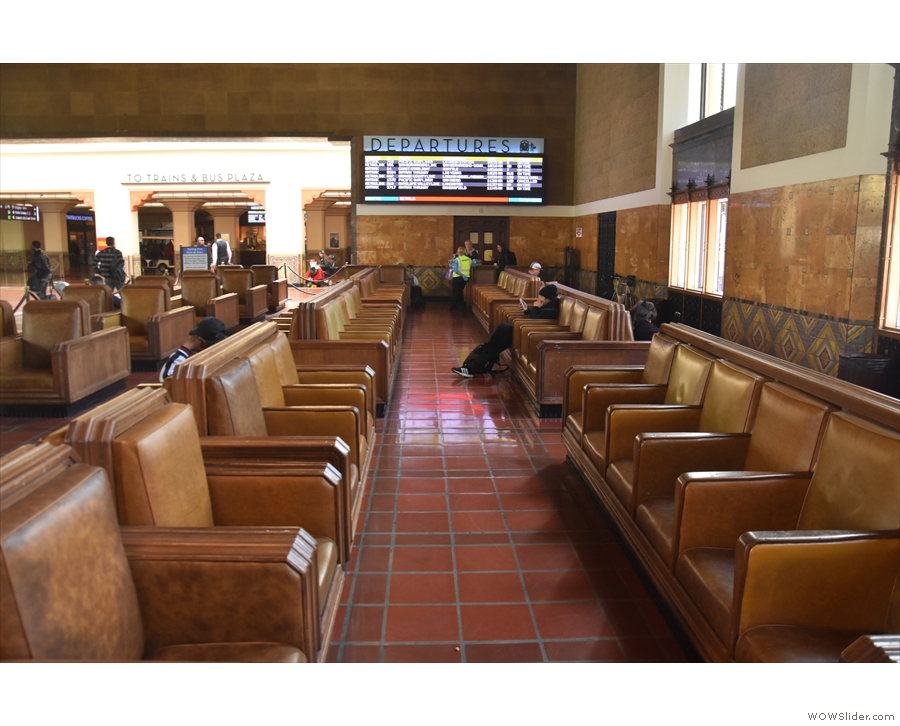 ... where you'll find the actual waiting room and ticketing area. Check out the departure...