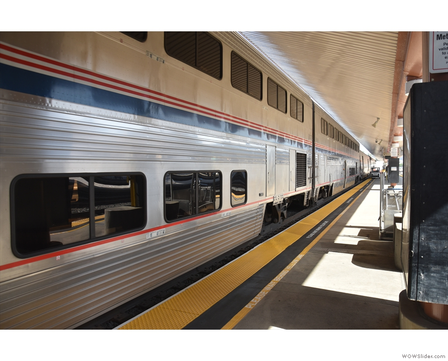 This is my train, the Coast Starlight, bound for Seattle, which is heading in the other...