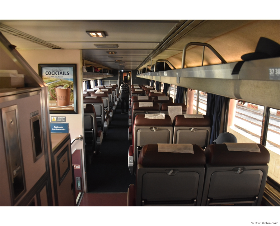 I was travelling in the business class coach (I normally travel coach class during the day).