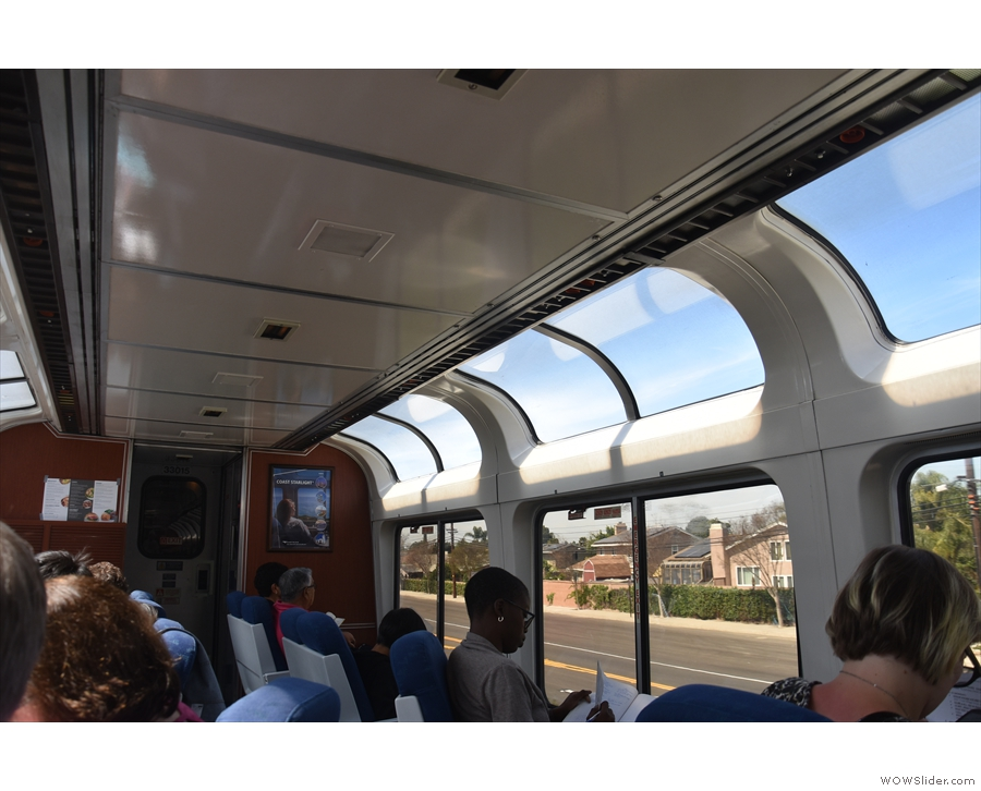 There's also a lounge car which everyone has access to, with an observation deck on top.