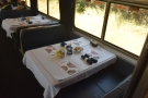 And finally, on this quick tour of the train, here's the all-important dining car!