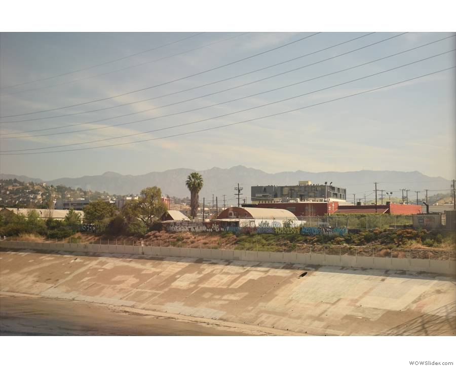 My first views of the mountains that run east-west to the north of Los Angeles.