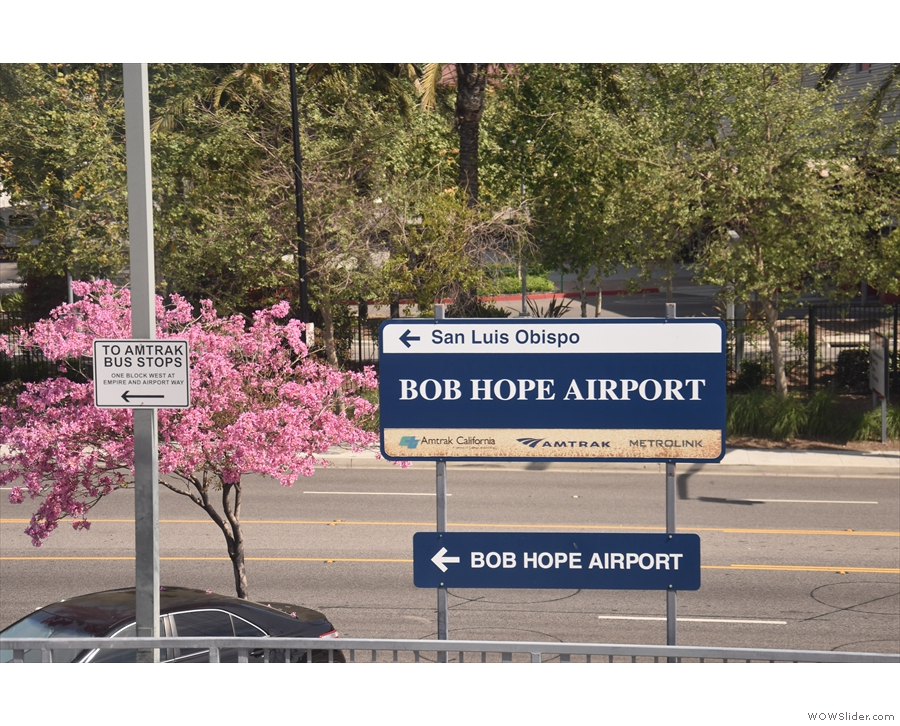 Our first stop is the Bob Hope Airport...