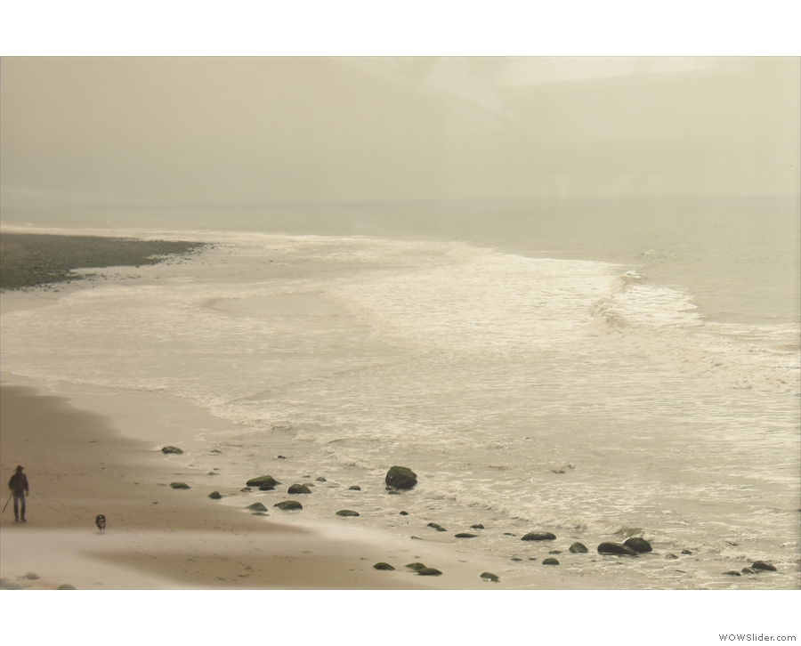 A look back along the sweep of the beach in the direction of Ventura.