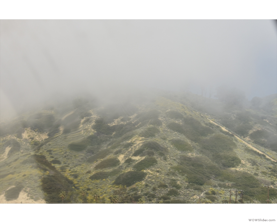 Sometimes, the clouds came down so low that the hills were almost gone!