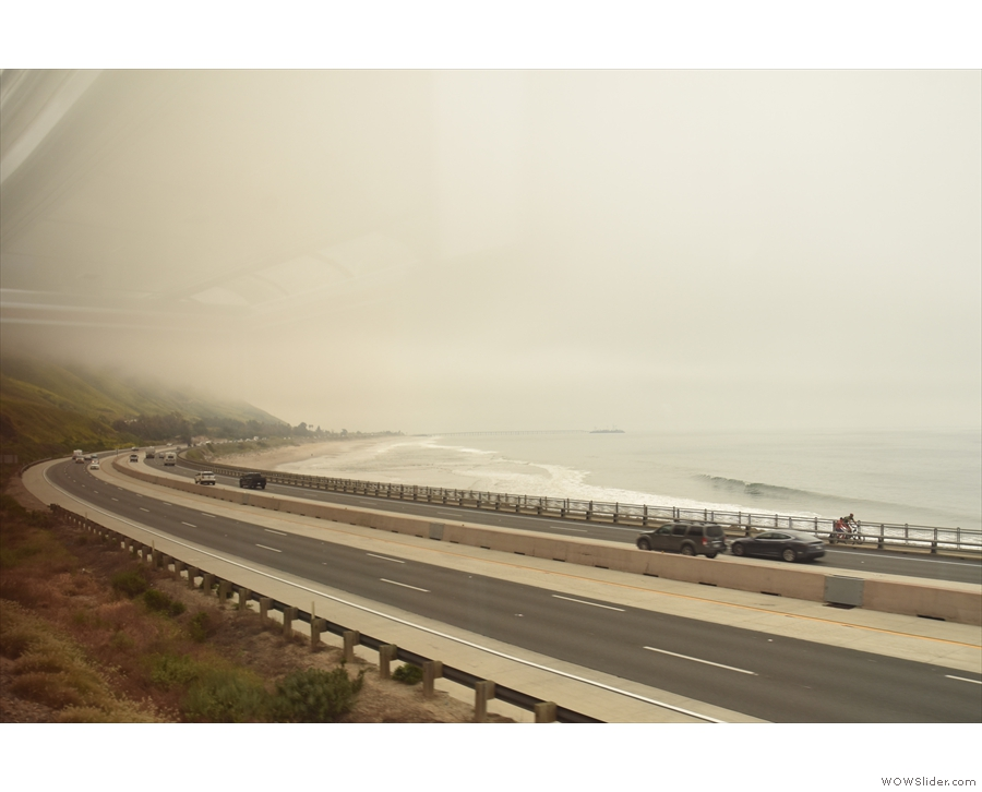 ... of coastline. This is the view looking back the way we've come, US 101 alongside.