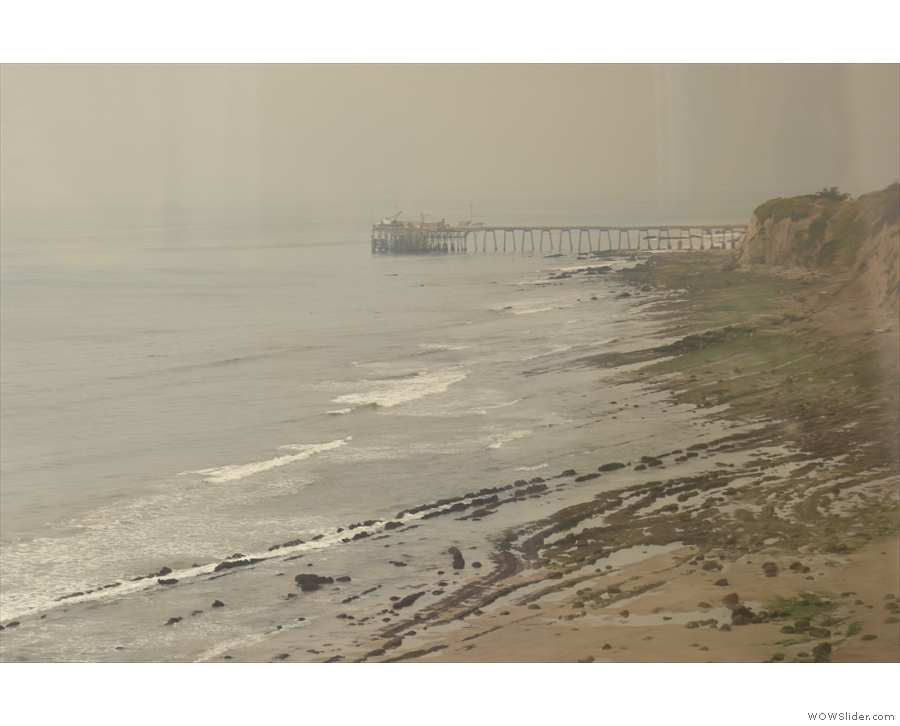 The next headland is soon upon us, with Richfield Pier sticking out into the ocean.
