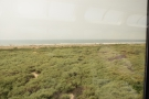 More scrubland follows, with the ocean beyond.