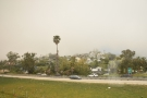 We're now coming into the Santa Barbara suburbs. This is the view inland...