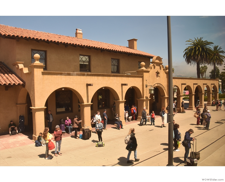 Compared to the other stops between here and Los Angeles, this is a major station.