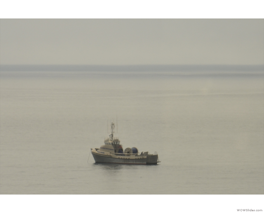 ... there was very little in the way of ships, just the occasional trawler like this one.