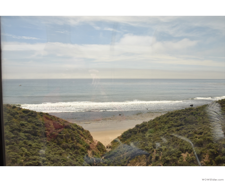 I love travelling along coastlines, especially by train.