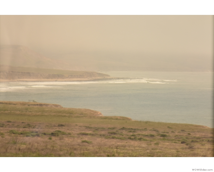 And back to the sweeping coastline (this is the bit that we've just traversed).