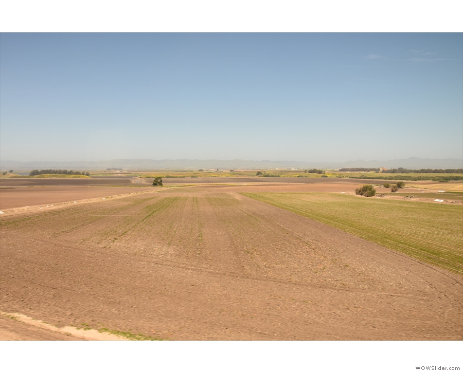 The land is now starting to become more agricultural...