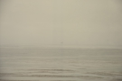 ... although looking out to sea, I can just make out shapes through the coastal mist.