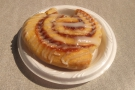 I also had a very sticky bun that I'd bought from the cafe car.