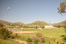 We set off again, through the centre of town and past the Cal Poly sports fields...