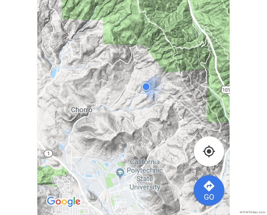 ... and, if it helps, this is where Google Maps thinks we are!
