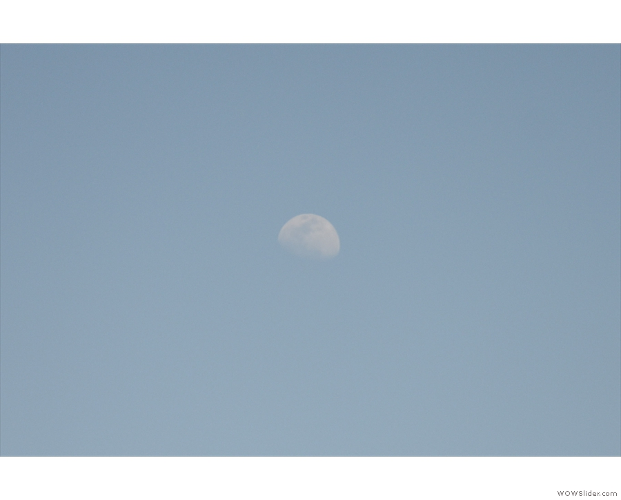 ... we have the moon for company.