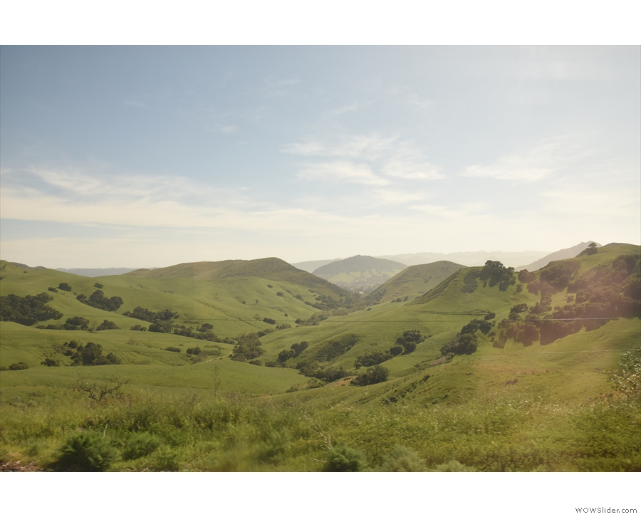The climb through the hills is very slow, affording some wonderful views.