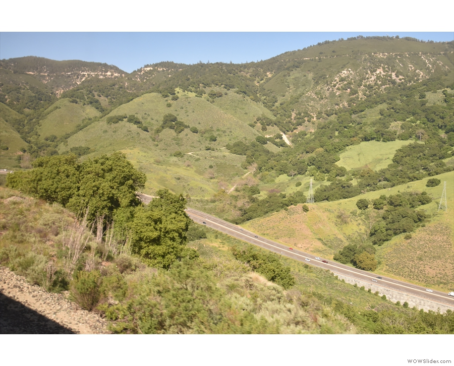 ... since we left San Luis Obispo and look! There's US 101 in the valley below us.